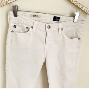 AG Jeans The Malibu cream white long length short